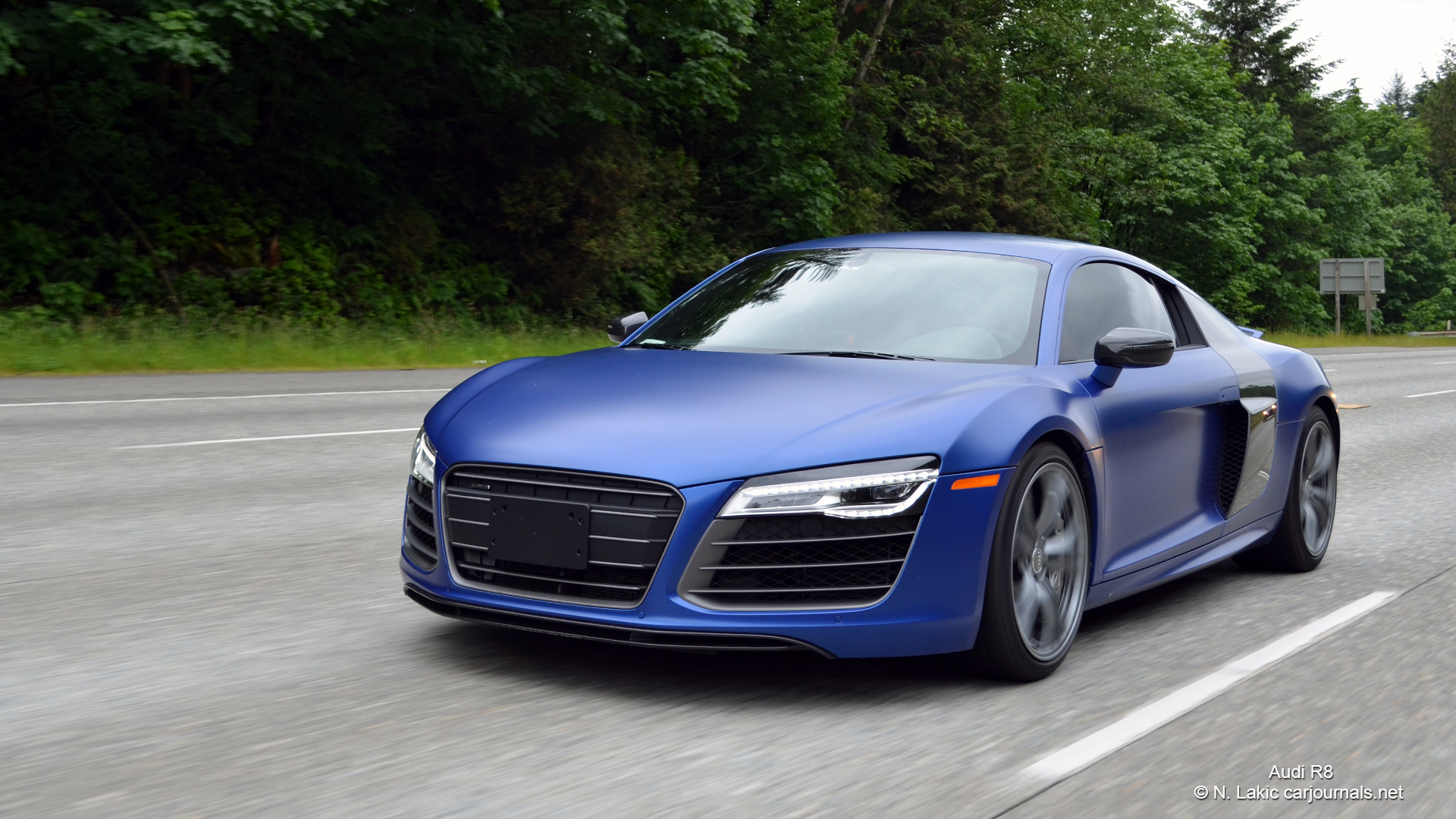 HD Car Wallpapers U2013 Blue Audi R8   Car Journals
