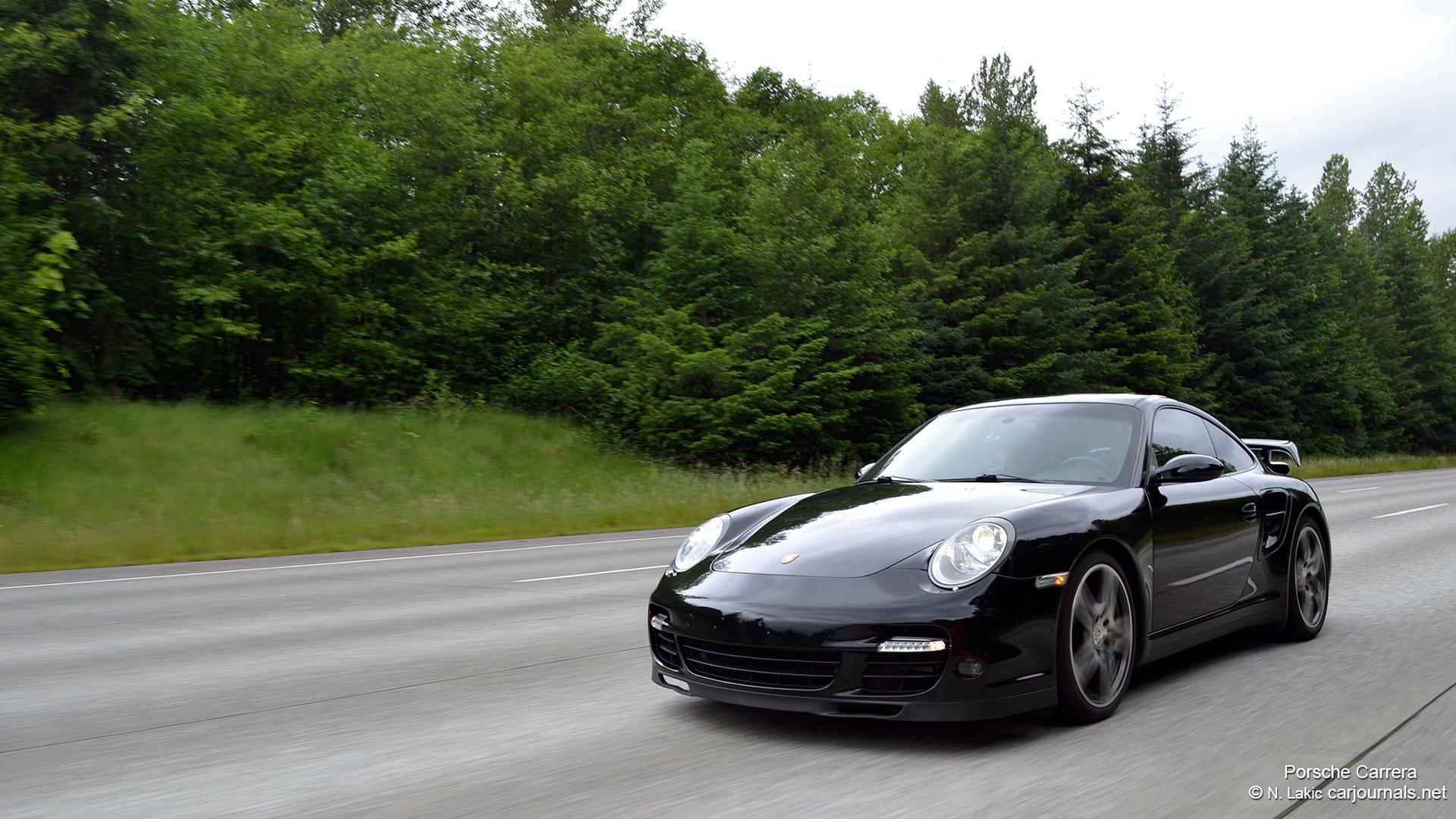 HD Car Wallpapers – Black Porsche Carrera