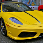 HD Car Wallpapers – Yellow Ferrari 430 Scuderia