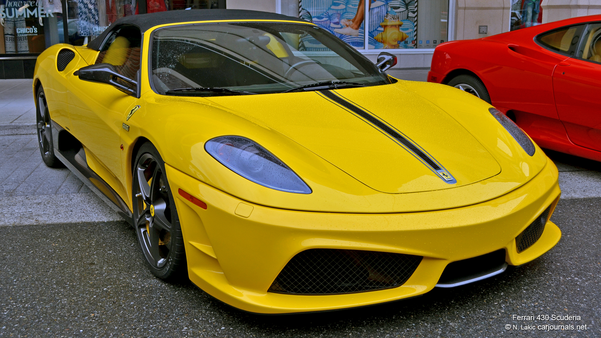 HD Car Wallpapers Yellow Ferrari 430 Scuderia