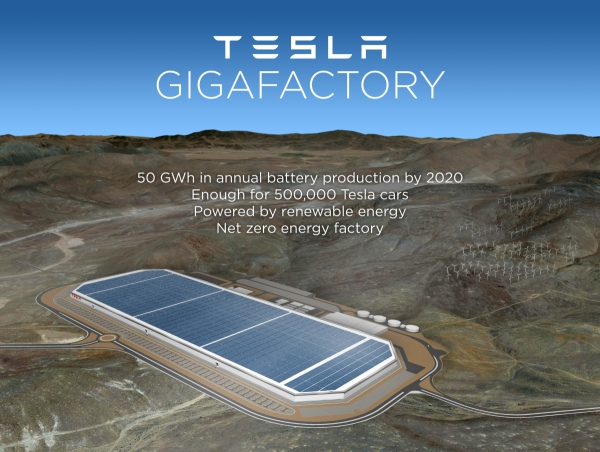 Nevada Selected As Official Site for Tesla Battery Gigafactory