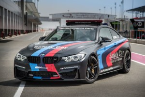 "BMW M ""Official Car of MotoGP™"", BMW M4 Safety Car with Water Injection, Losail, Qatar © BMW 2015"