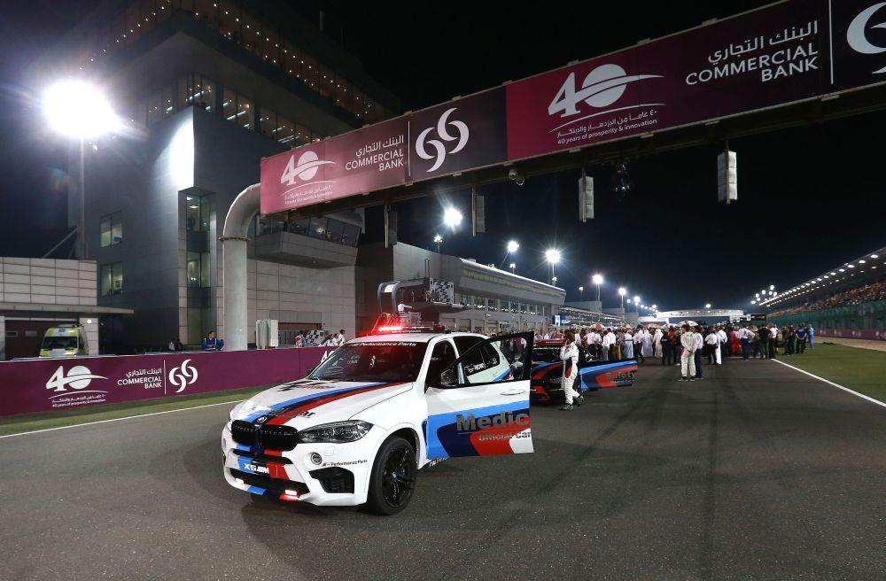 """BMW M """"Official Car of MotoGP™"""", BMW X5 M Medical Car, Losail, Qatar © BMW 2015"""