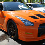 Orange Nissan GT-R – HD Wallpaper