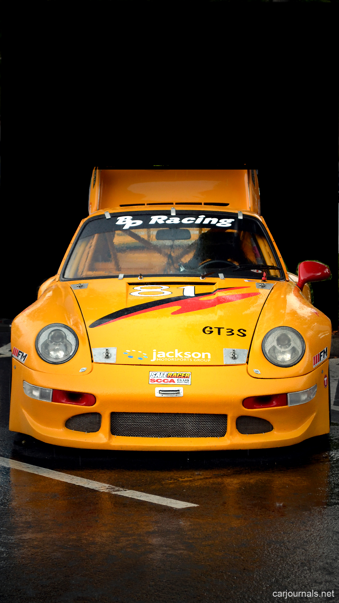 Yellow Porsche GT3S iPhone Wallpaper - Car journals