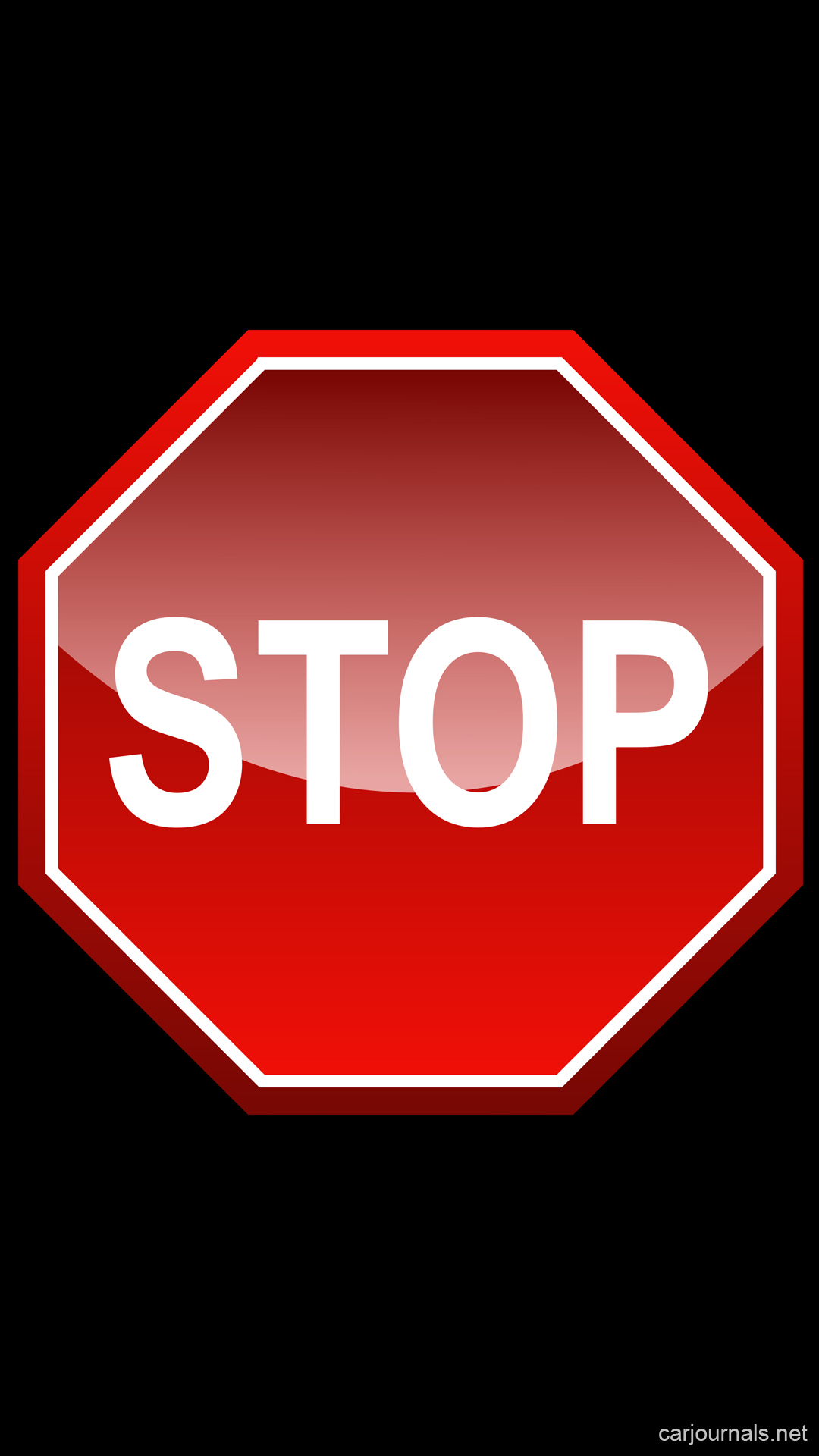 Stop Sign iPhone Wallpaper - Car journals