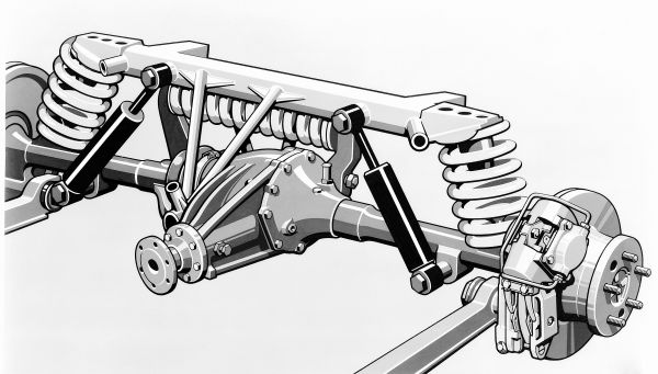 "Mercedes-Benz 300 SL ""Gullwing"", chassis. Drawing of the space frame."