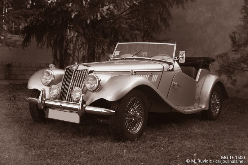 MG TF 1500 with the roof down - Car Journals