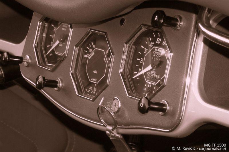 MG TF 1500 dashboard - Car Journals