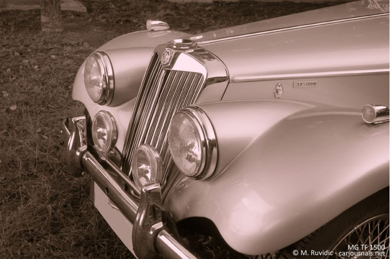 MG TF 1500 radiator grille and headlamps - Car Journals