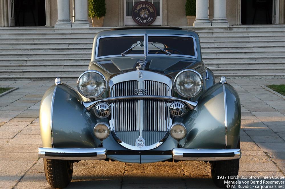 1937 Horch 853 Stromlinien Coupe Manuela von Bernd Rosemeyer - Front view