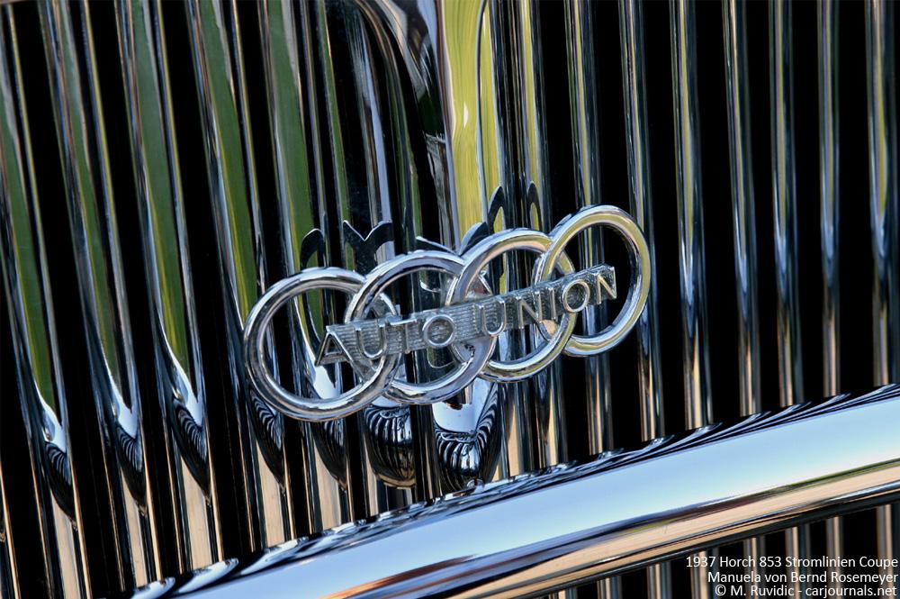 1937 Horch 853 Stromlinien Coupe Manuela von Bernd Rosemeyer - Grill detail