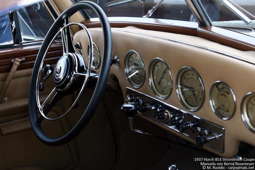1937 Horch 853 Stromlinien Coupe Manuela von Bernd Rosemeyer - Interior