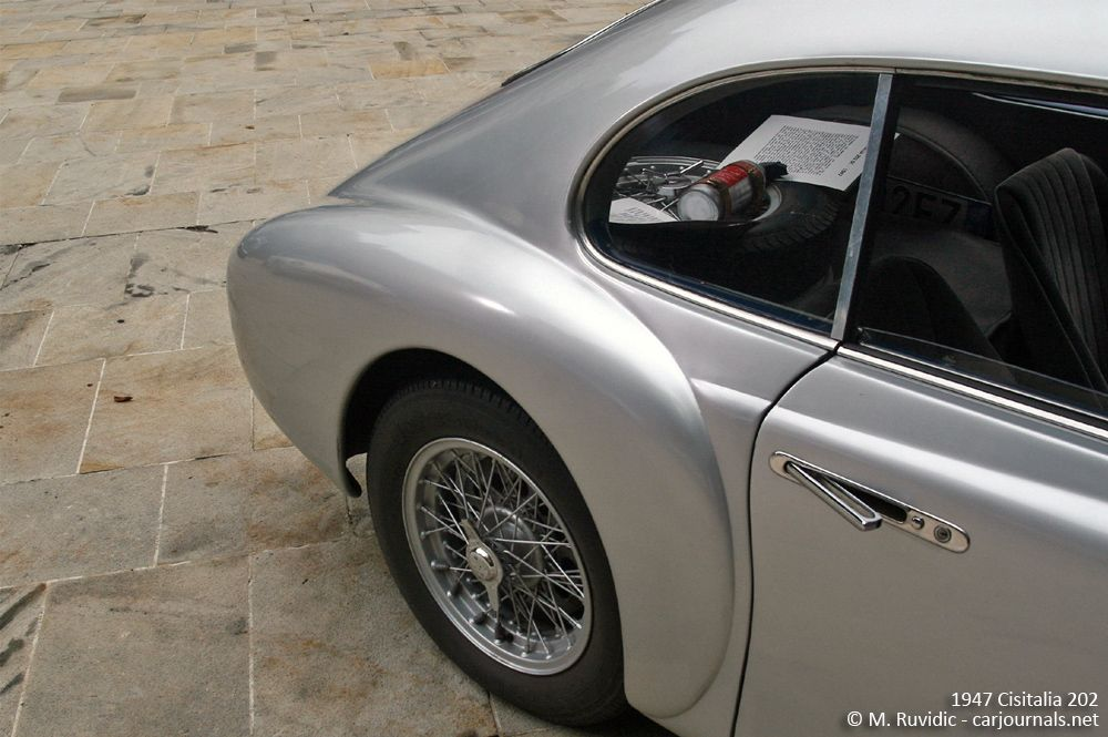 1947 Cisitalia 202 rear detail - Car Journals