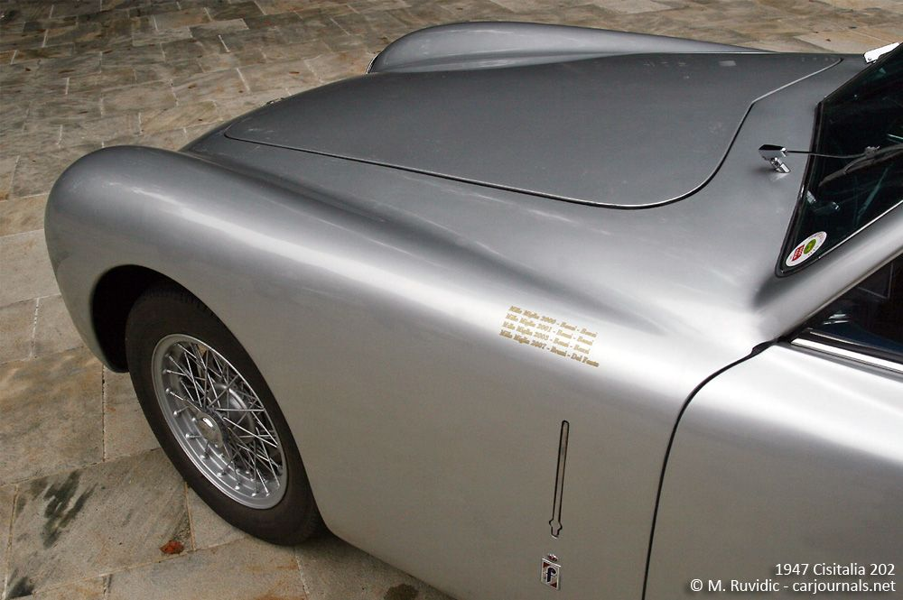 1947 Cisitalia 202 front detail - Car Journals