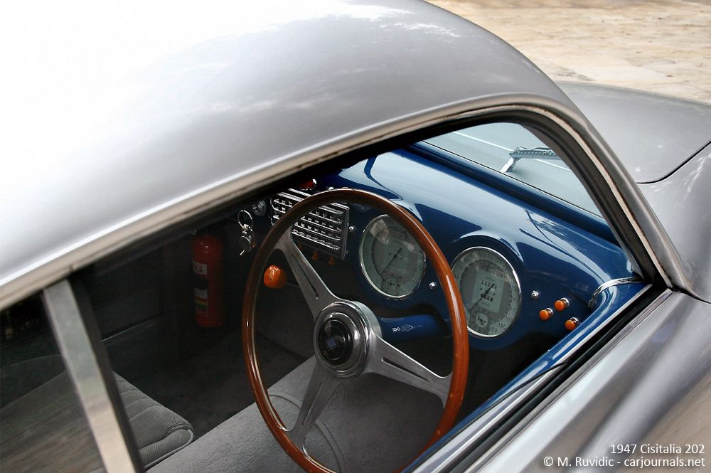 1947 Cisitalia 202 interior detail - Car Journals