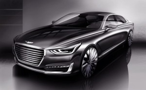 Hyundai Motor unveils rendering of new G90