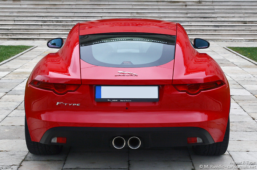 Jaguar F-Type rear view - Car Journlas