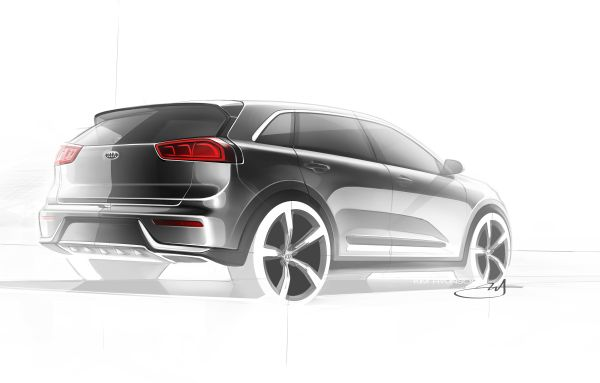 Kia Niro Production Model Rendering