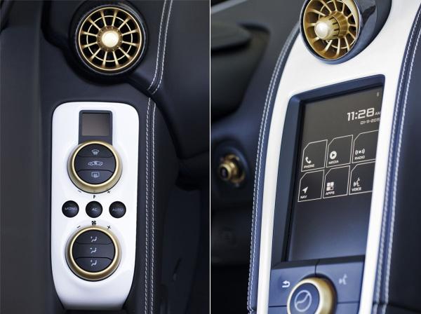McLaren 650S Spider Al Sahara Interior Detail