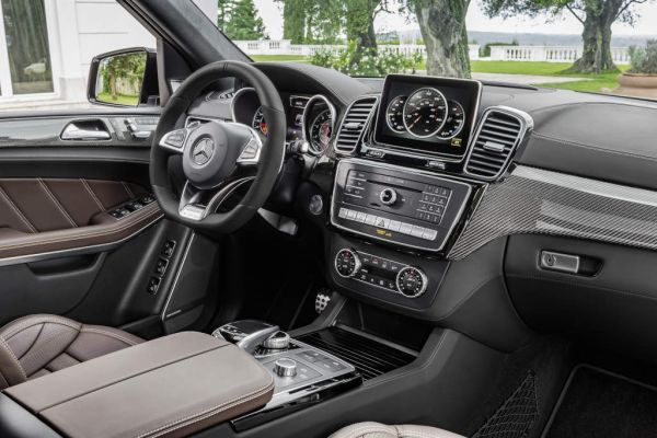 Mercedes-AMG GLS 63 4MATIC, interior: leather nappa espresso brown, trim parts: AMG carbon