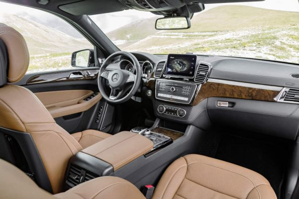 Mercedes-Benz GLS 350 d 4MATIC, interior: leather saddle brown, trim parts: walnut wood high-gloss