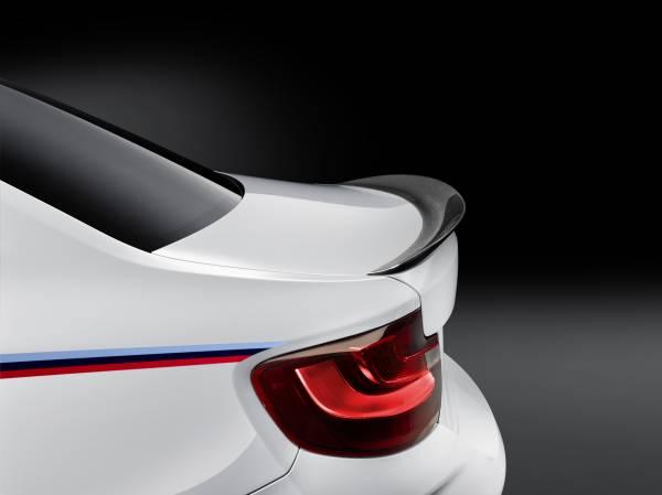 BMW M2 Coupé with BMW M Performance Parts carbon rear spoiler © BMW