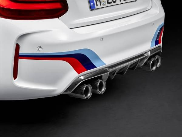 BMW M2 Coupé with BMW M Performance Parts carbon rear diffusor and exhaust system © BMW