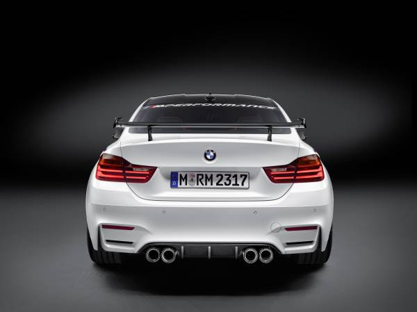 BMW M4 Coupé with BMW M Performance Parts rear view © BMW