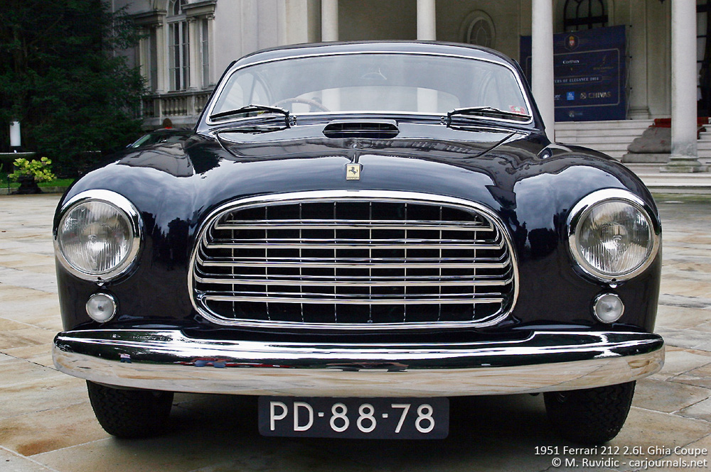 1951 Ferrari 212 Ghia Coupe Front view - Car journlas
