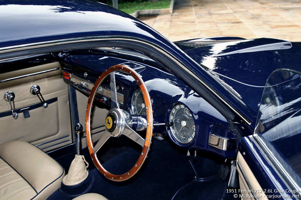 1951 Ferrari 212 Ghia Coupe Interior - Car journlas