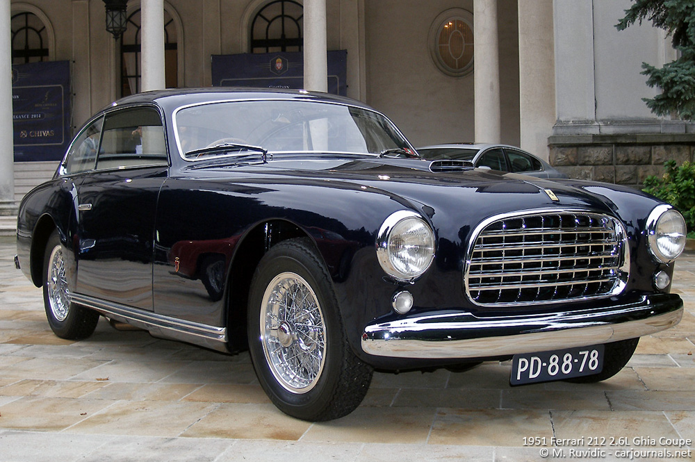 1951 Ferrari 212 2.6L Ghia Coupe - Car journlas