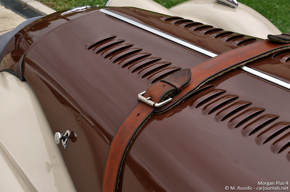 Morgan Plus 4 hood detail - Car Journals